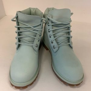 Timberland Shoes - Womens Green Timberland Boots Size 5.5